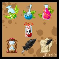 Fantasy mediaeval ICONs by Mirella-Gabriele