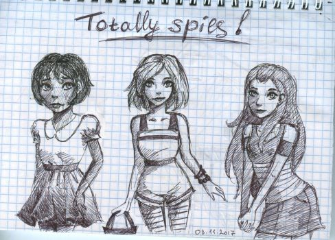 girls from Totally spies by Brudens