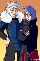 Konan and Tobirama by its-amihan