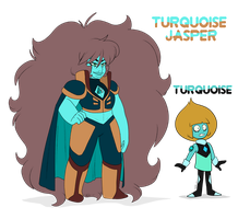 - Turquoise Jasper and Turquoise - by PencilTree