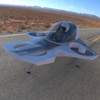 TriFan Hovership in the Desert by VanishingPointInc
