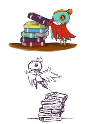 a round of tome stackers by dragon-chu