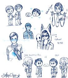 [ DBH Random Sketch sheet  #1 ] by Sukzu-Chan