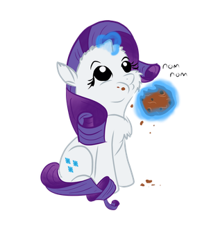 Rarity cookie Nom by SchnabsiX