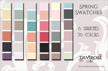 Spring Swatches by Devirose81