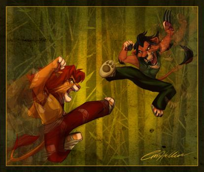 Kung Fu Lions by Emo-Hellion