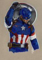 CAPTAIN AMERICA by ARTIEFISHEL79