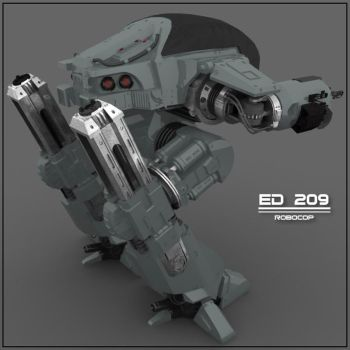 ED-209 Second Entrance by zoomzoom