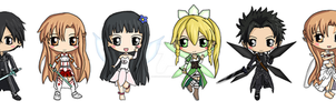 Sword Art Online Chibis by IcyPanther1
