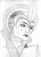 Queen Amidala Mayan style by Jue