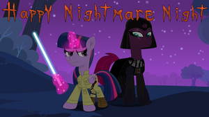 Twilight And Fizzlepop's Nightmare night by EJLightning007arts