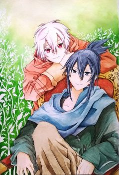 Nezumi and Shion by FlameMar