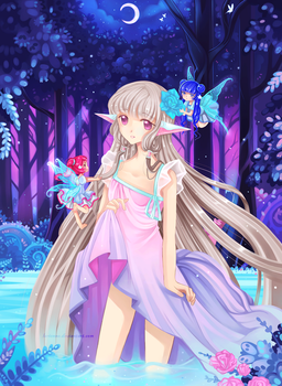 Chii and Midsummer Night's Dream by larienne
