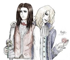 Louis and Lestat from The Vampire Chronicles by DynastJC