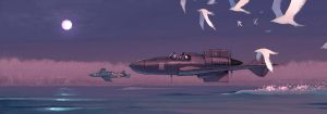 Elven Lake Patrol - XP-55 Ascender and Saab 21 by Lionel23