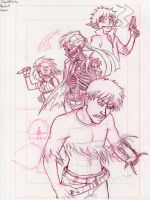 Roulette City Round 5 Cover Pencils by neilak20