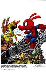 Spider-Ham vs Captain Carrot by LuisEscobar