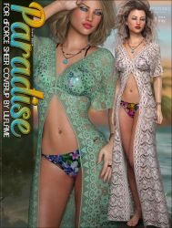 Paradise for dForce Sheer Cover Up G8F by cosmosue