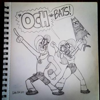 OCH-wa-Bats! - Mighty Magiswords-Aquabats mash-up by artbylukeski