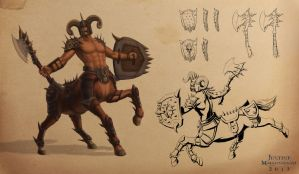 Chief Centaur Character Sheet by Jujusaurus