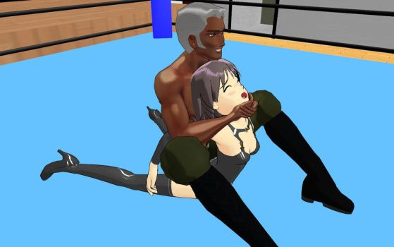 mixed camel clutch by georgewrestling
