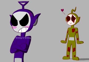 Laa Laa and the scary purple one . Slendytubbies by MarkRoosien