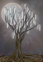 Tree of Light Christmas card design by Starsong-Studio