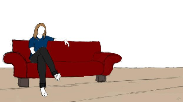 woman on couch by thunderweeds