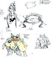 End of Dis character design - More characters by ChanterelleandMay