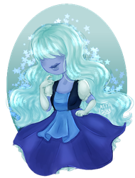 Sapphire (Sticker Available) by All-The-Fish-Here