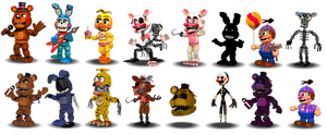 Fnaf 2 Characters Canon by Educraft