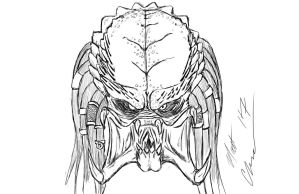 Predator sketch by RoninH5X