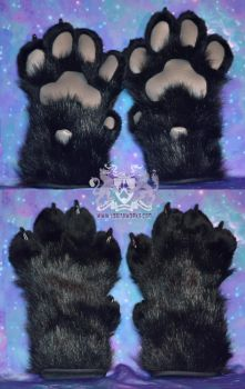 Black Feral Paws for Sale by LobitaWorks