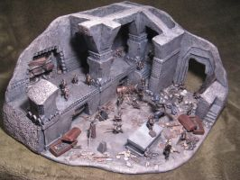 Mines of Moria ~ miniature diorama scratch built 1 by jadamfox