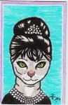 Audrey Hepburn Cat by nightcat17