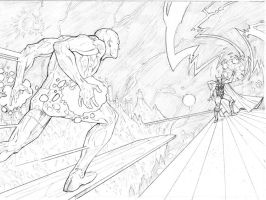 Thor Vs. Silver Surfer 1 by vmarion07