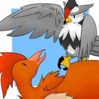 Fearow and Staraptor