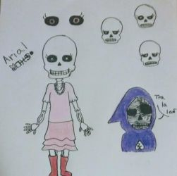 Undertale OC - Arial by Ghostly-Mariposa