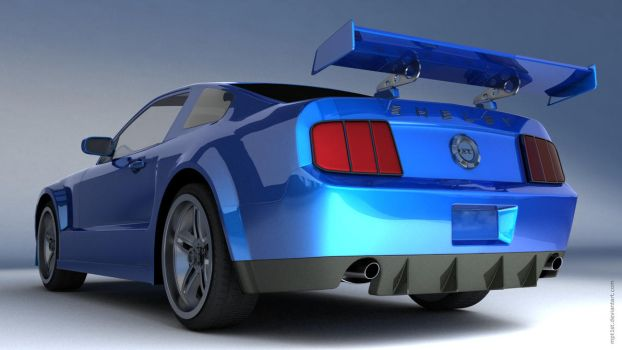 Ford Mustang Shelby GT Back by mpt1st