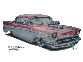 57' Chevy by SIMPSONARTISTRY