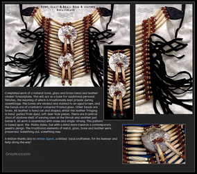 BONE AND BEAD BREASTPLATE by GreyMoccasin