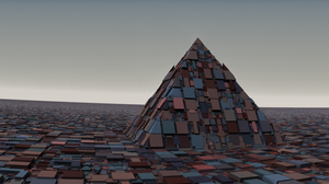 A lonely pyramid by Jakeukalane