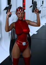 Retro Space Heroine by Dracis3D