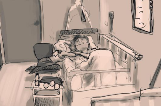 Nap in Hospital by Tysirr