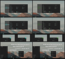 Nost Metro Dark Cyan and Green Theme Win10 April by Cleodesktop