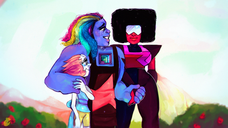 i want to be famous so i drew steven universe art by greyxm