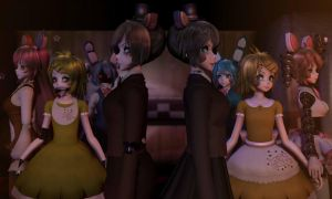 [MMD|MikuMikuDance] Old and New FNAF/FNAM by AngelinaSchmidt