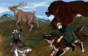 Hunting - Caribou Again by tsareia