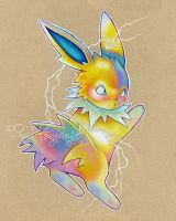 Colorful Jolteon by opalchan