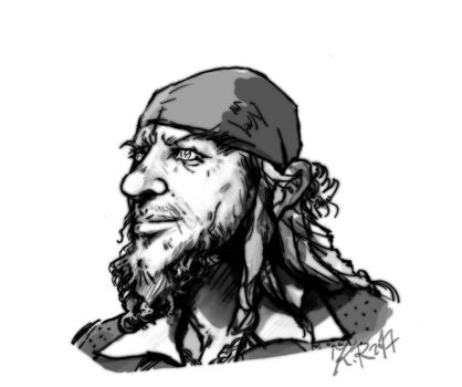 Hector Barbossa    Comicstyle Moebius by KomyFly